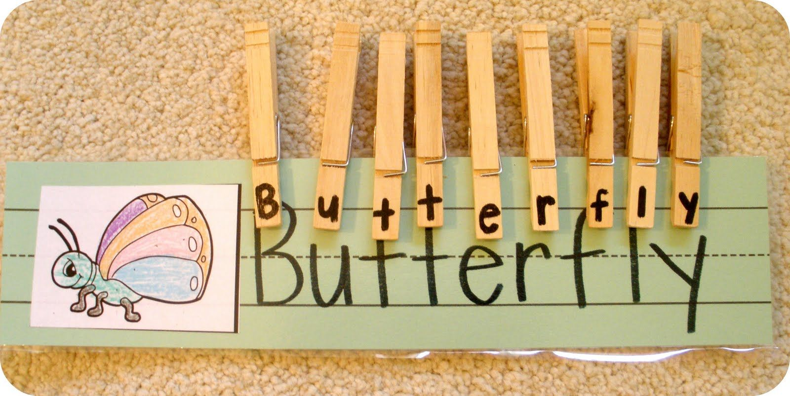 creating & teaching: bug word clips.