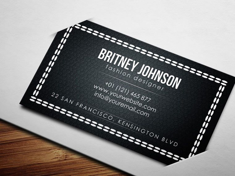 fashion designer business card template free download