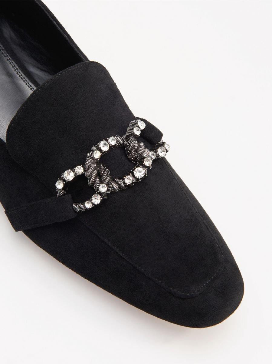 Mokasyny Z Bizuteryjna Klamra Reserved Xw037 99x Loafers For Women Loafer Shoes Loafers