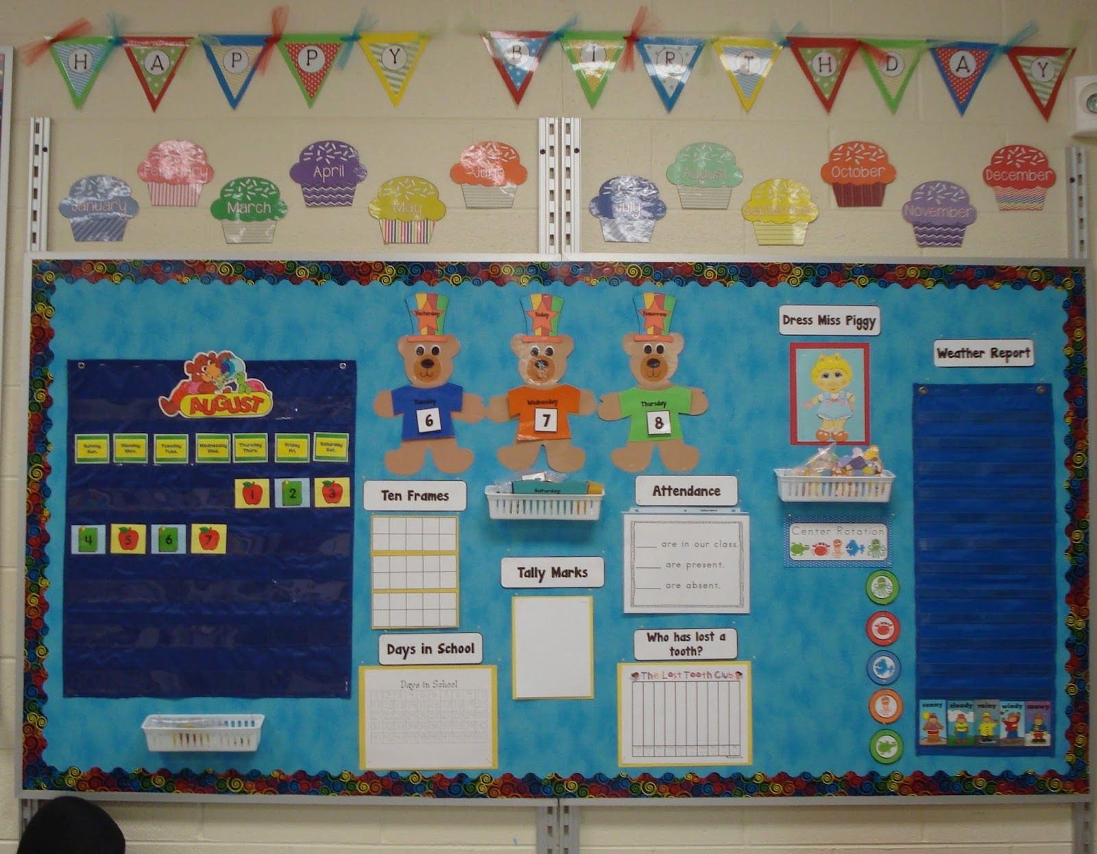 Calendar Ideas For Nursery : Reflective calendar in the preschool room classroom