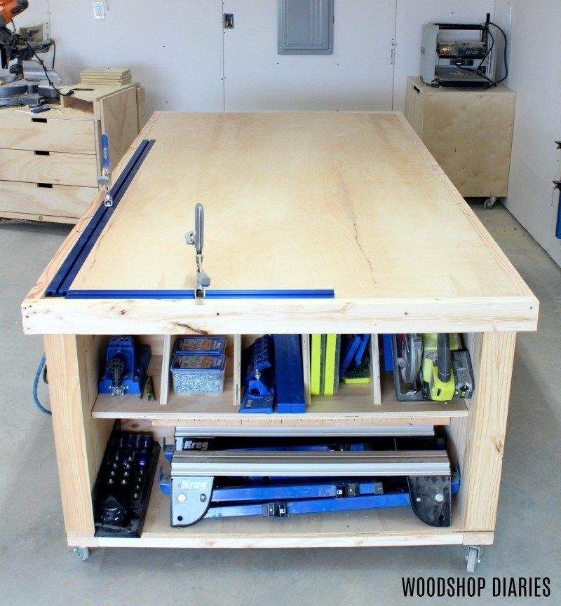 How To Build A Diy Mobile Workbench Workbench With Storage