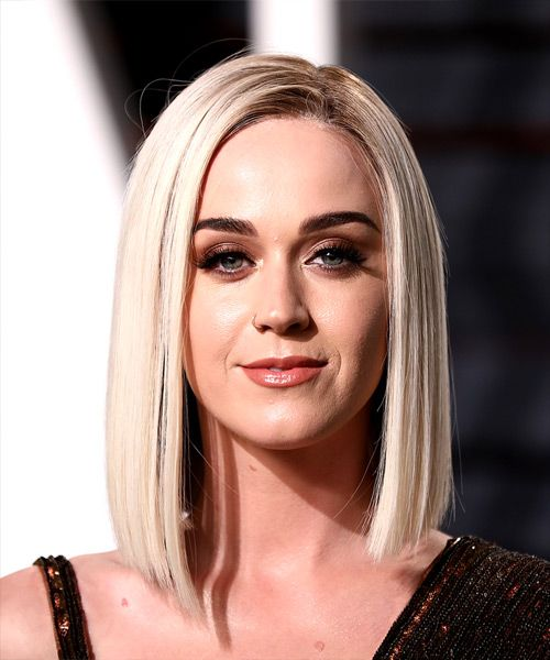 Katy Perry Straight Bob From The 2017 Oscars Http Www Thehairstyler Com Hairstyles Formal Medium Straight Bob Hairstyles Blonde Bob Haircut Katy Perry Hair