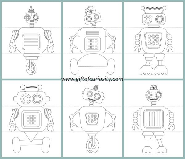 free flip a robot printable activity book kids can mix and match robot heads - Kids Activity Book Printable