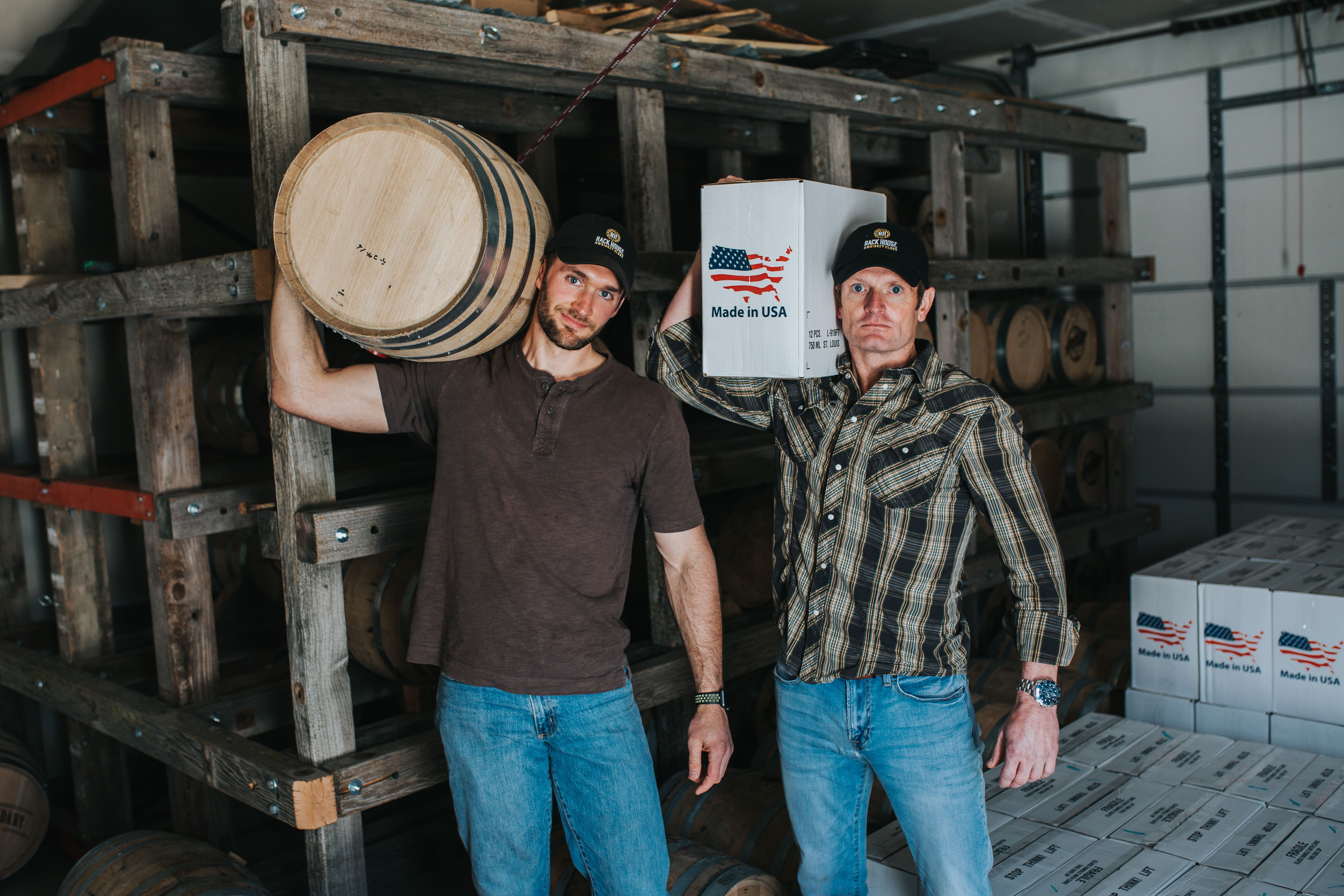 Rackhouse Whiskey Club Co Founder Dannie Strable Right And