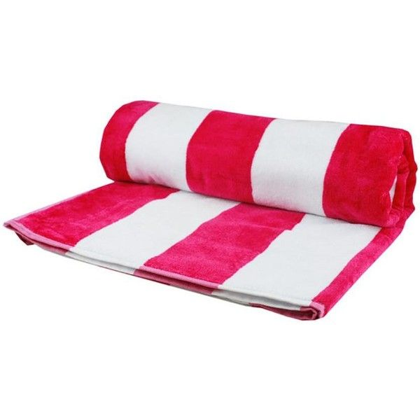 Black Pink And White Striped Egyptian Cotton Beach Towel 32