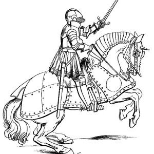 Knight Knight Ride Steel Horse Coloring Page Knight Ride Steel