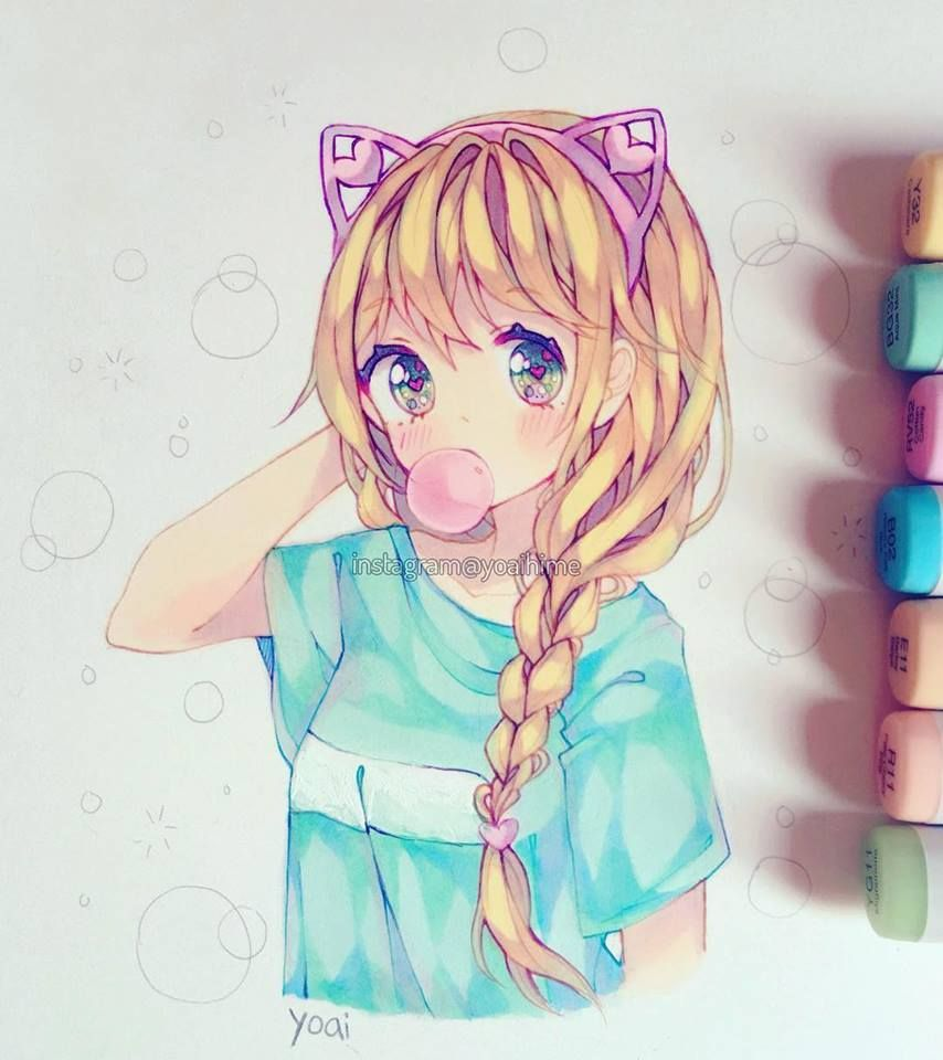 Artist instagramyoaihime anime art beautiful anime