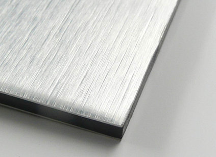 Silver Brushed Aluminum Composite Panel Standard Size 1220mm 2440mm 4mm 3mm Brushed Aluminum Paneling Aluminum
