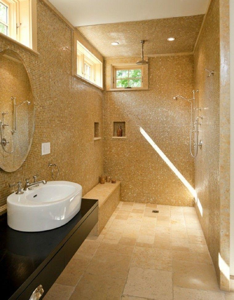 Baños pequeños con ducha - 38 diseños de moda | Baño pequeño, Duchas ...