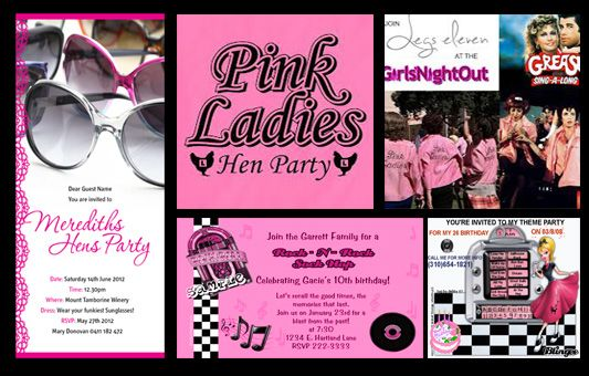 Henpartyideas pink ladies themed hen party invitation ideas henpartyideas pink ladies themed hen party invitation ideas bachelorettepartyideas pinkladies available on http stopboris Image collections