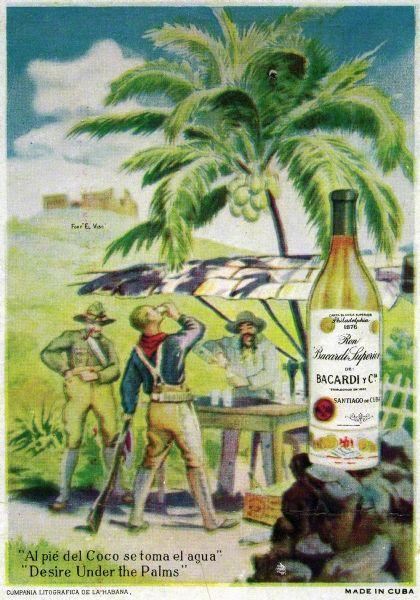 Postcard - Desire Under the Palms. Prohibition era advertisement. #prohibitionera #advertisement #colourad #vintage #postcard