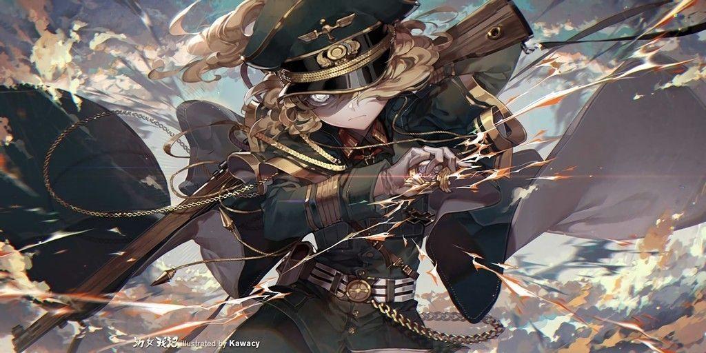 Tanya Degurechaff Anime Art Girl Wallpaper