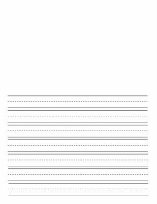 Lined writing paper for kids with space for an illustration ...