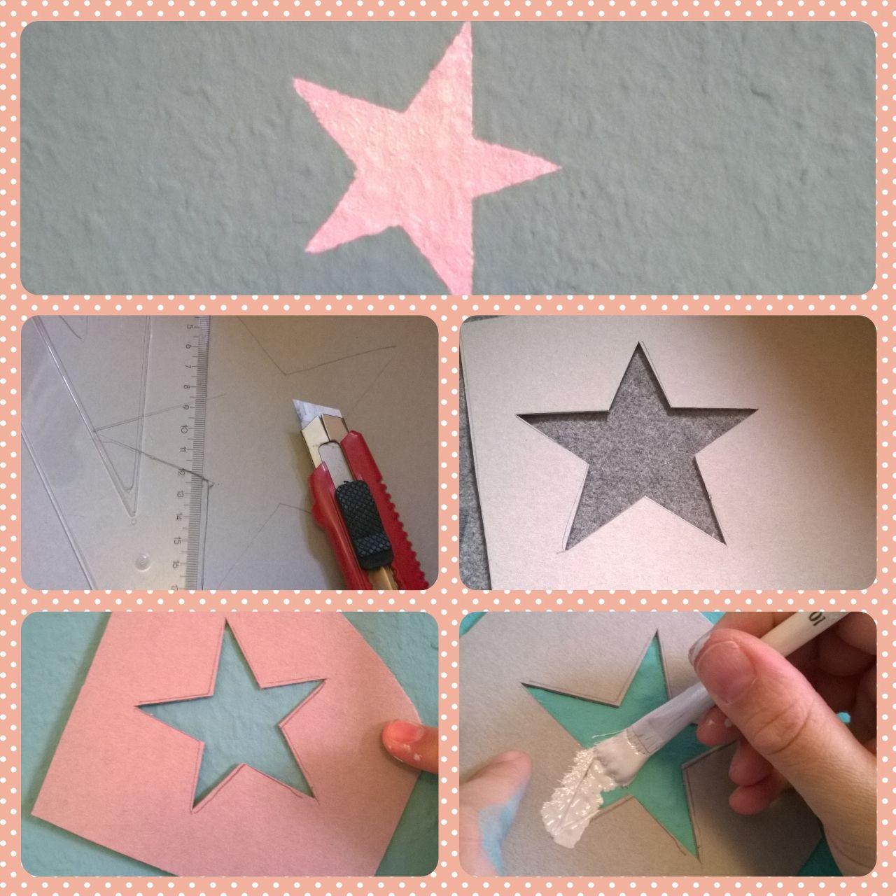 Babyzimmer wandgestaltung malen  Sterne an die Wand malen | Kinderzimmer | Pinterest | Wand malen ...