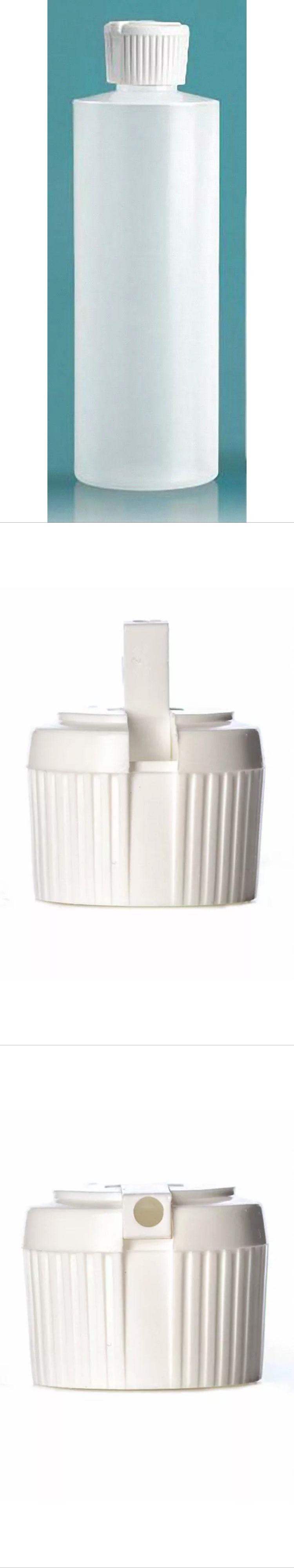 4 oz HDPE Cylinder Round Plastic Bottles w  Polytop Dispensing Caps  (Lot 1aee0685b6e