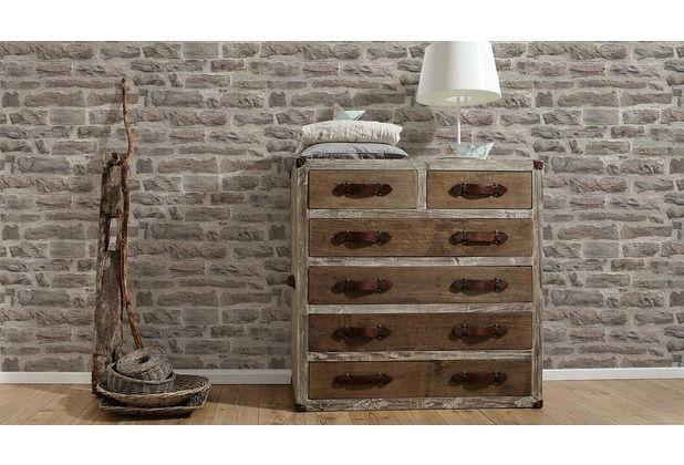 Stein #Backstein #Kombination #Holz #Trend #Tapeten #Design
