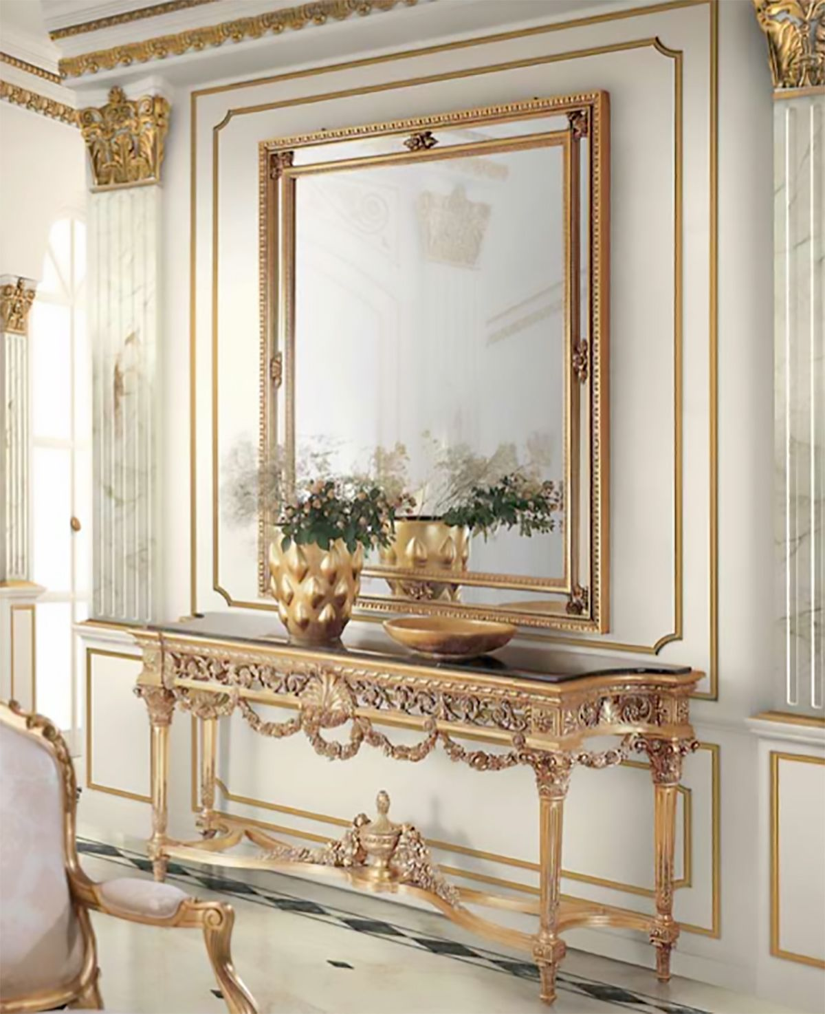 console avec miroir meubles de luxe buffet ou console. Black Bedroom Furniture Sets. Home Design Ideas