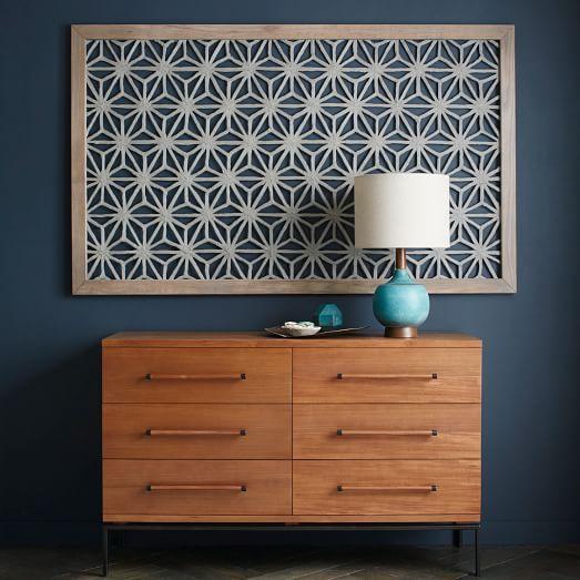 West Elm Wall Art framed handmade paper wall art - gray star | paper wall art, paper