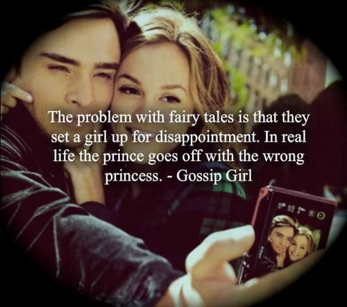 the problem with fairty tales is that they set a girl up