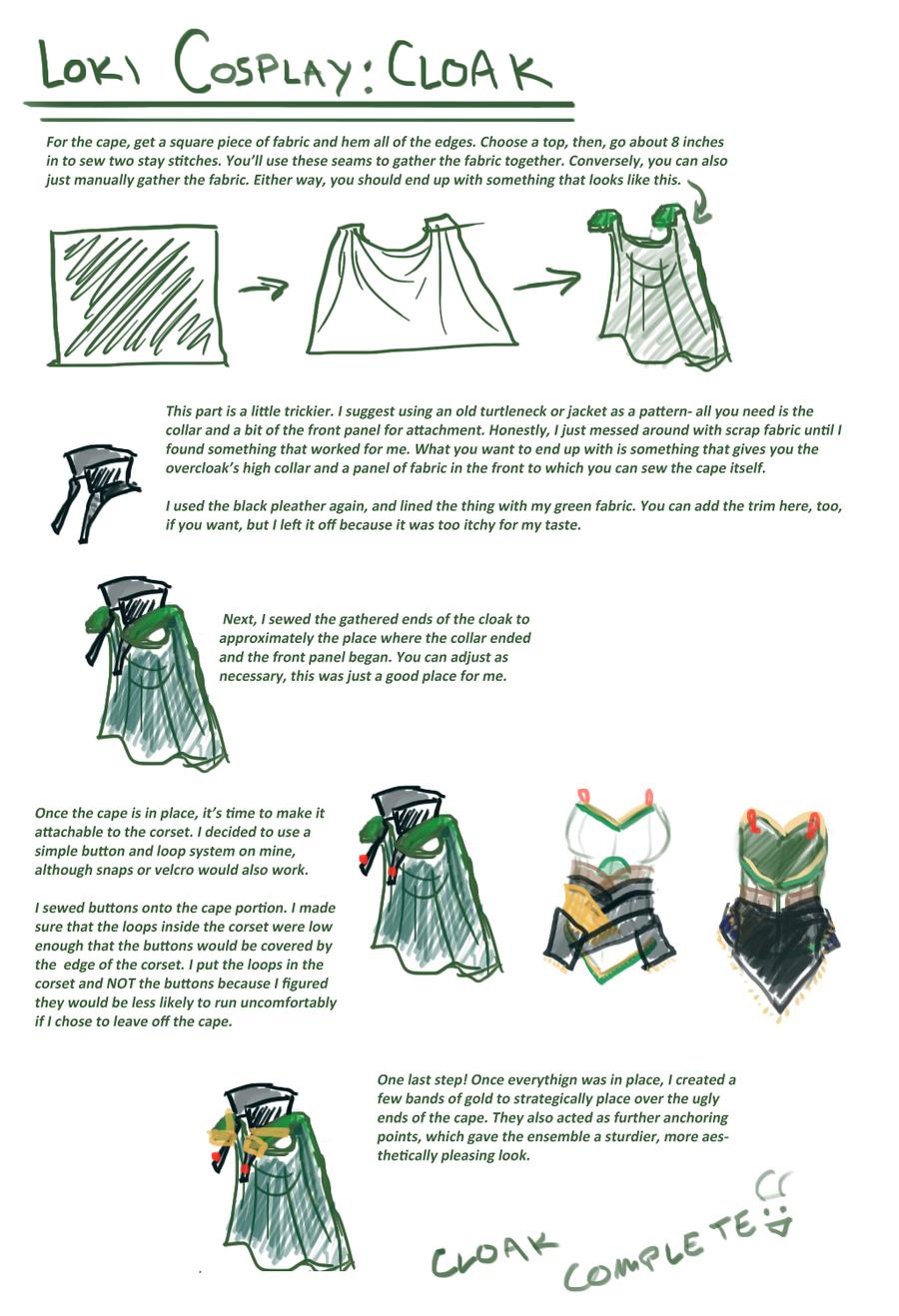 Loki cosplay guide: Cape by SirLadySketch on deviantART   DIY ...