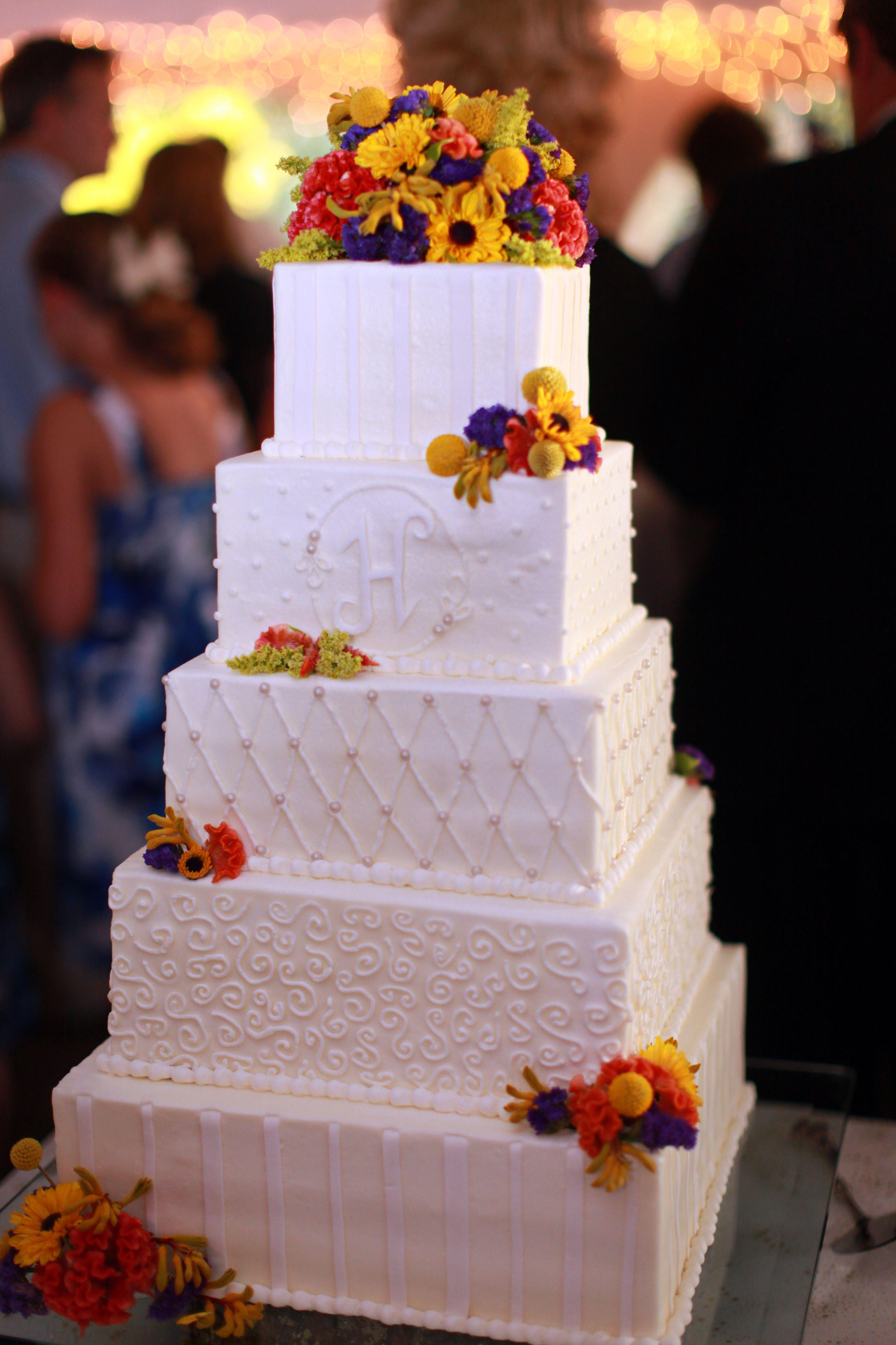 5 tier wedding cake - Fall Flowers on Cake - Fall Cakes ...