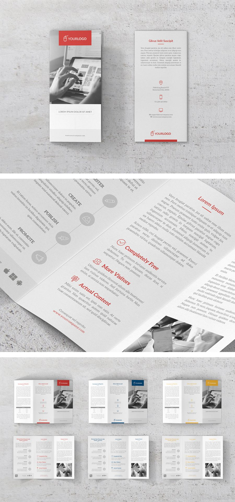 Clean Trifold Brochure Adobe Indesign Brochure Template And Brochures