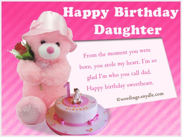 Birthday Wishes for Daughter Wordings and Messages | quotes say