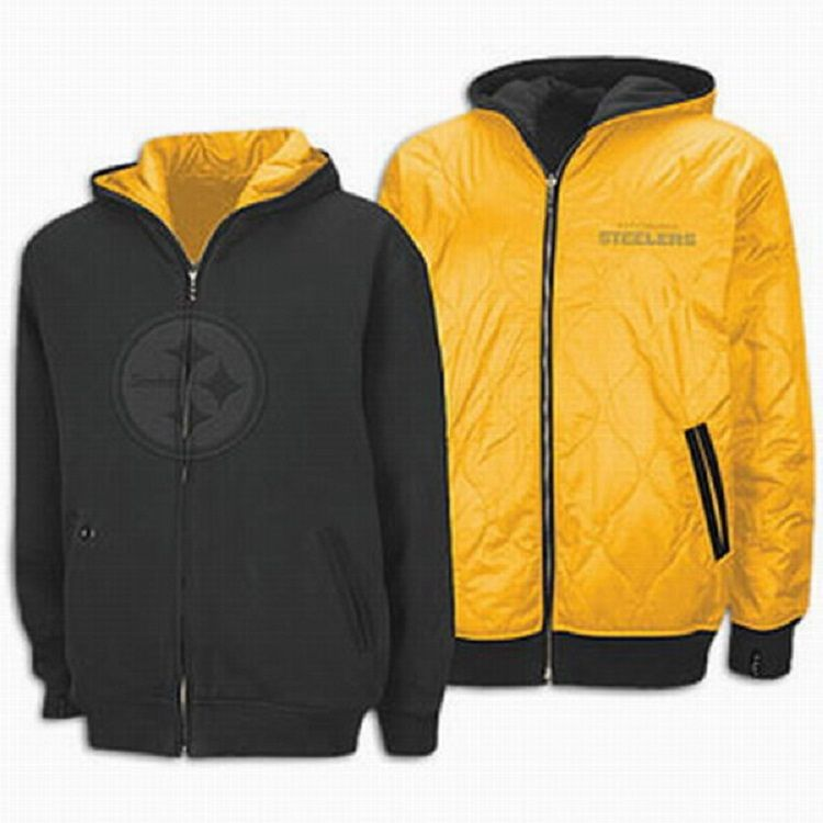 brand new d491f a48f1 Steelers Shine Unlimited Reebok 2 Tone Full Zip Reversible ...
