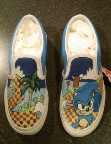 Custom Sonic The Hedgehog Kids Vans Slip On Shoes Vans Slip On Shoes Vans Slip On Slip On Shoes