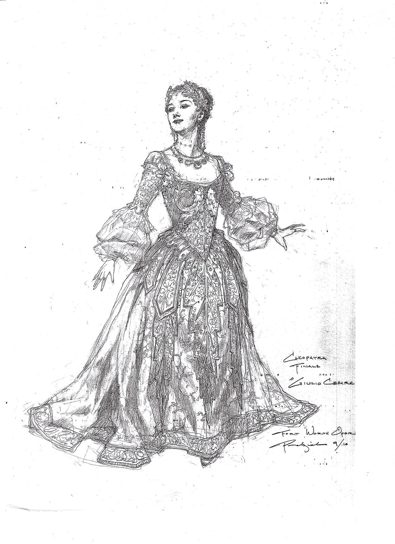 Costume designs by Robert Perdziola for the Fort Worth