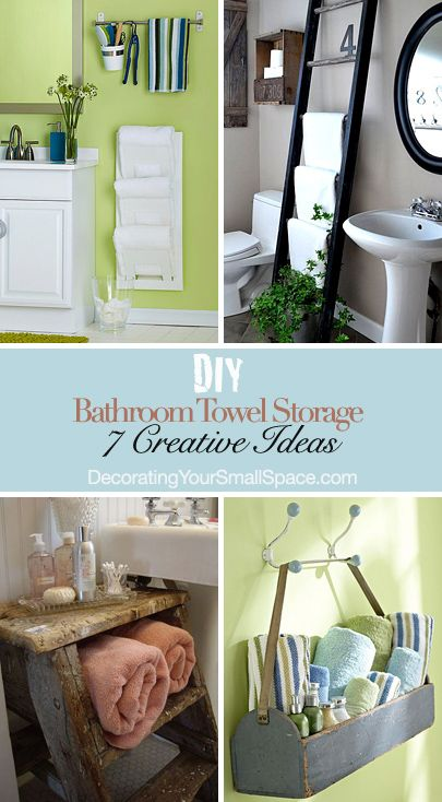 Great DIY Bathroom Towel Storage: 7 Creative Ideas | Decorating Your Small Space