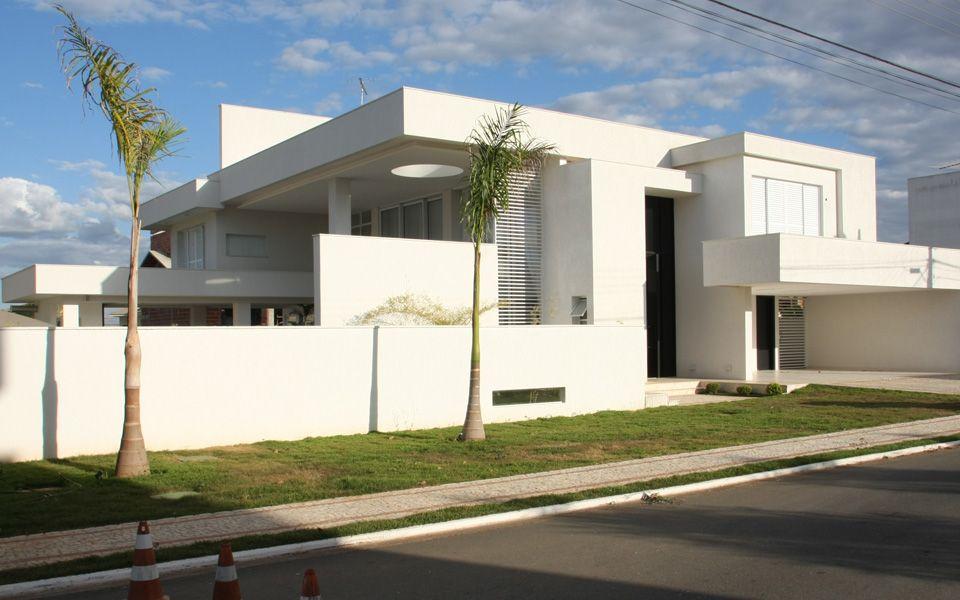 15 fachadas de casas modernas com plantas veja projetos for Fachadas de casas modernas 1 pavimento