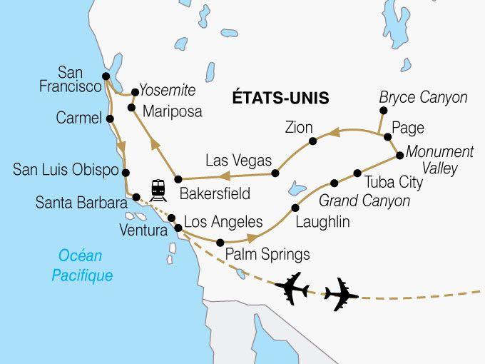 Carte Usa Californie Ouest Americain Premium Shhiver 849273 Road Trip Ouest Usa Road Trip Usa Ouest Americain