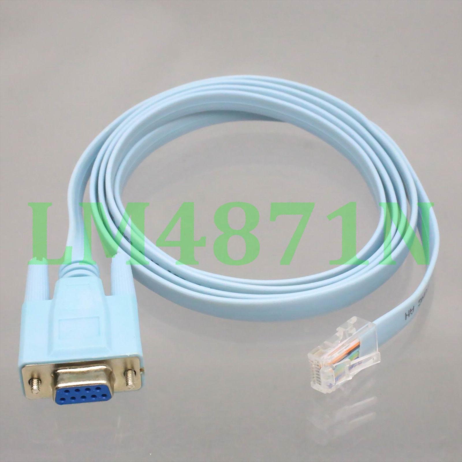Db9 D Sub Vga Female Jack To Rj45 8p8c Plug Male Cisco Console Cable 5ft Blue Ebay Electronics Ebay Plugs Console
