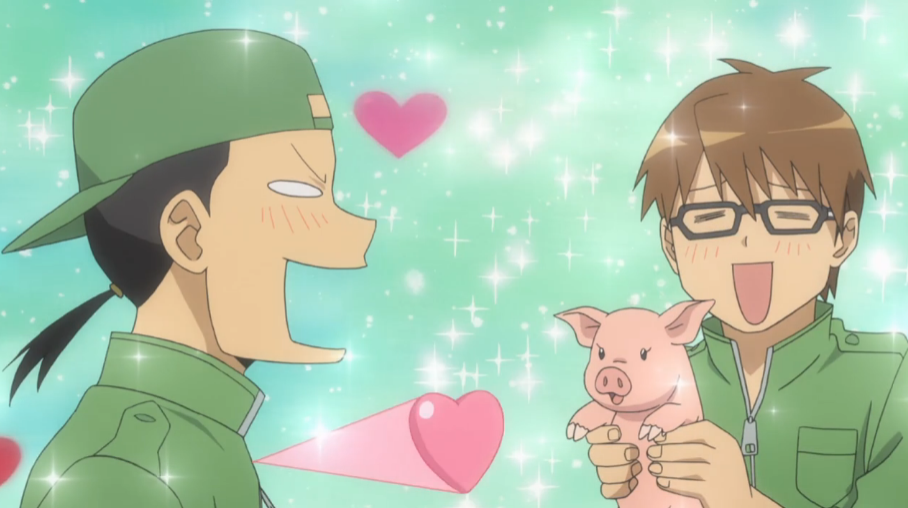 S01E03 both Tokiwa and Hachiken consider piggy as the