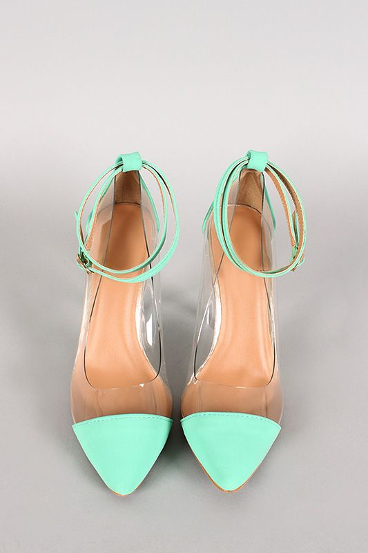 Lulu-6 Strappy Lucite Pointy Toe Pump