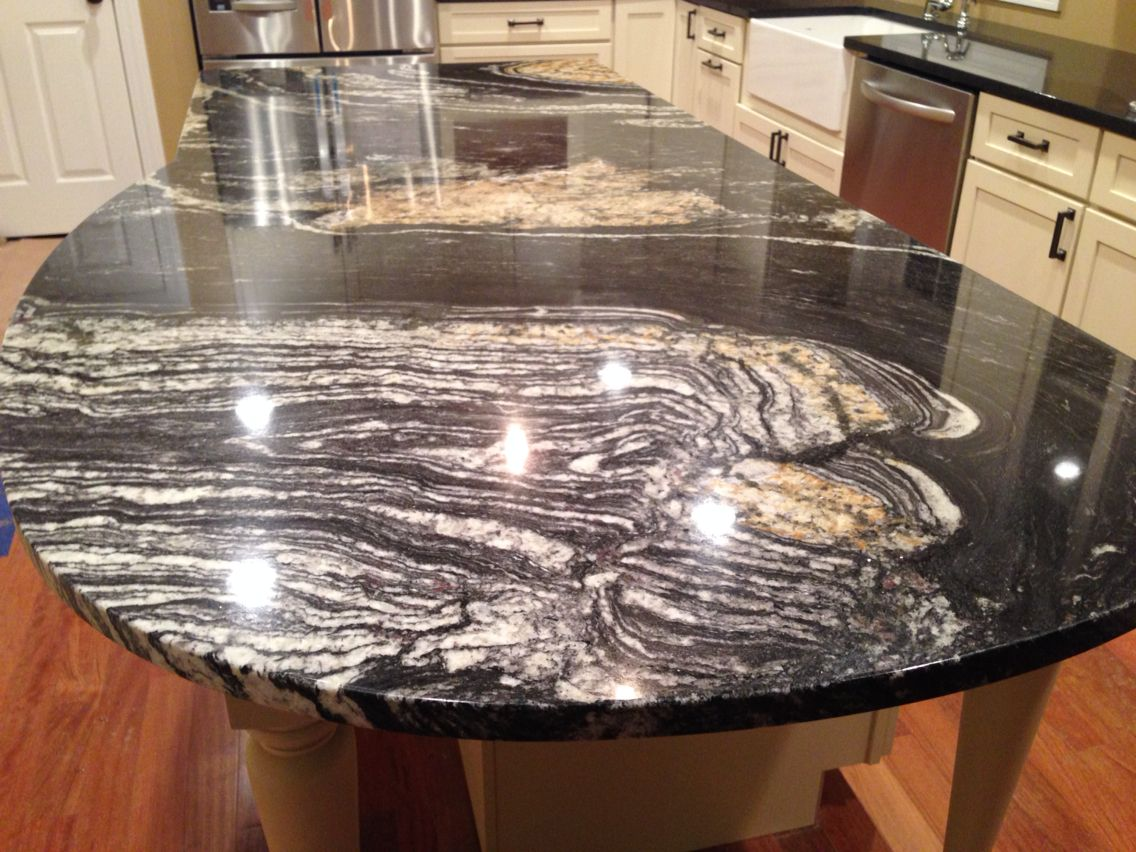 Sensa Amelia Ridge Granite Countertops With White Kitchen Pictures