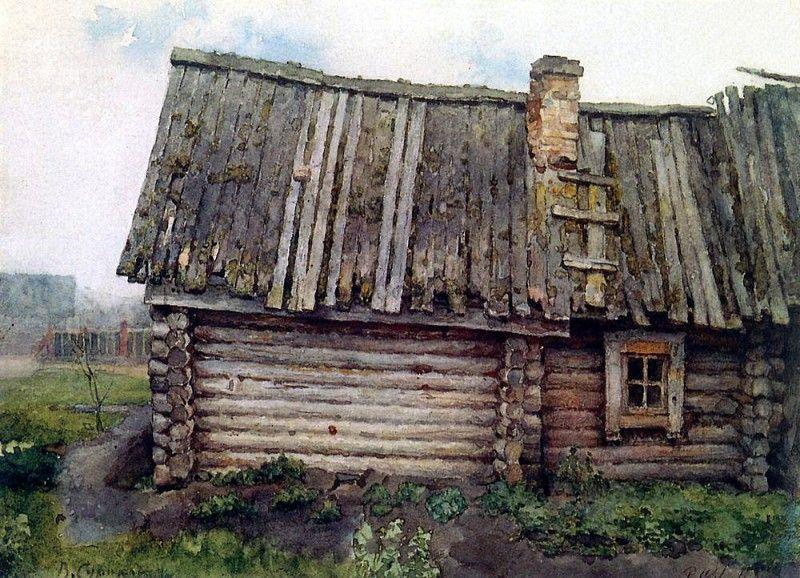 Изба. 1873. Василий Иванович Суриков   Искусство ван гога ...