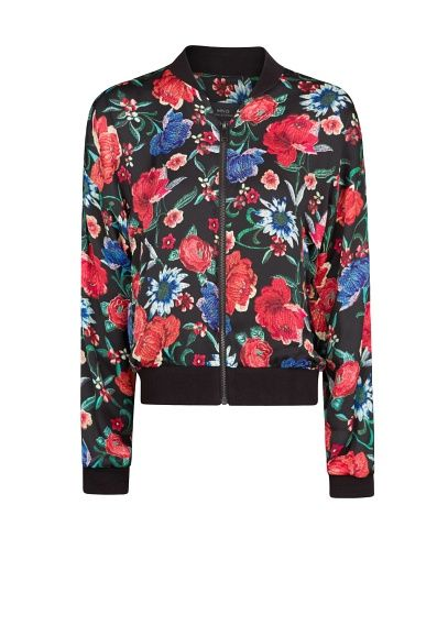 89179d910 Floral print bomber jacket - Women | Clothes! | Printed bomber ...
