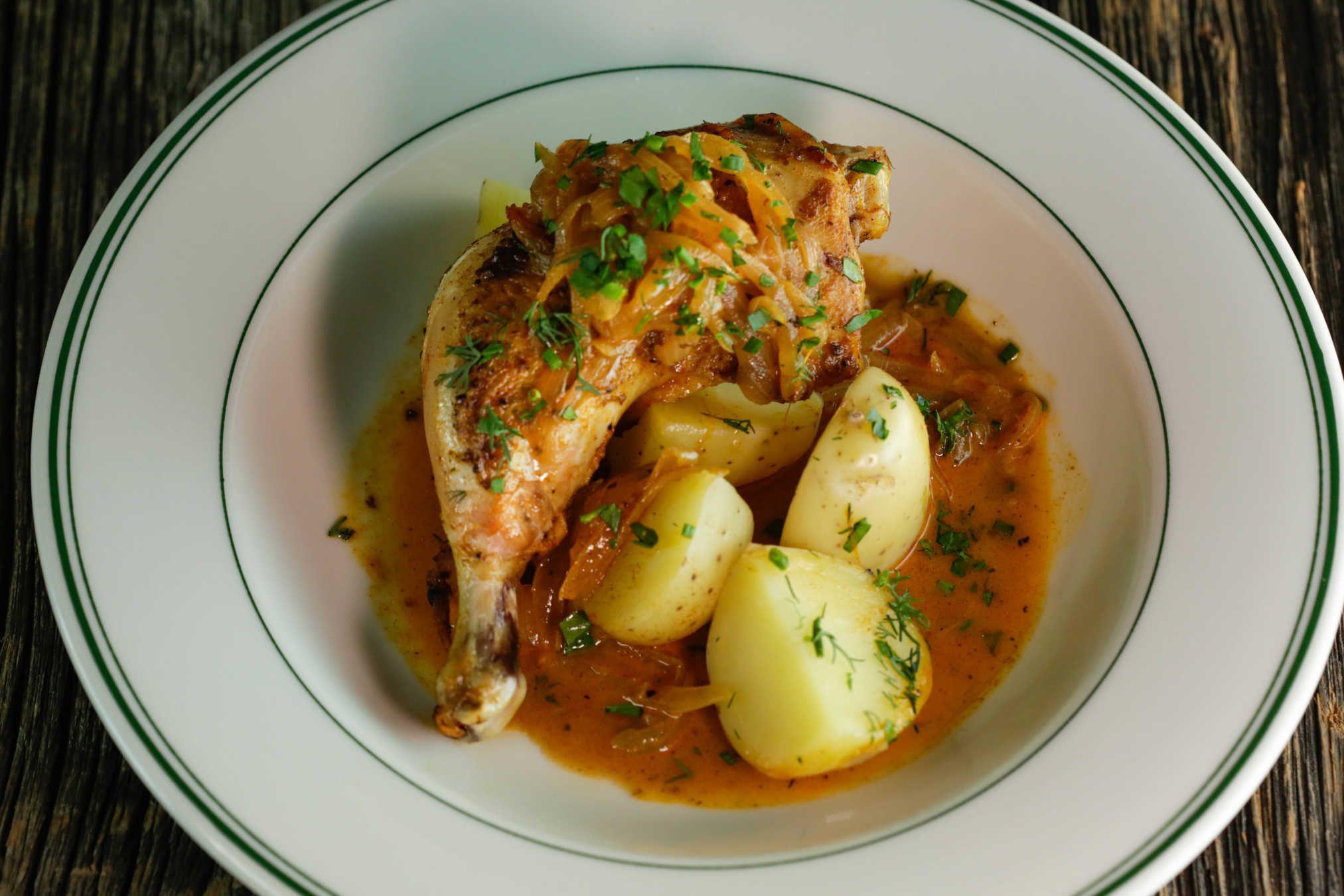 Hungarian Paprika Chicken.