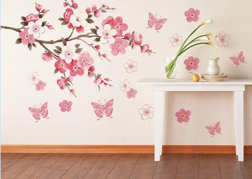 Amazon Com Cherry Blossom Peel N Stick Wall Decals Wall Decor Decals Wall Decor
