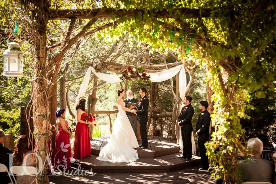 lake arrowhead outdoor forest wedding venue at pine rose