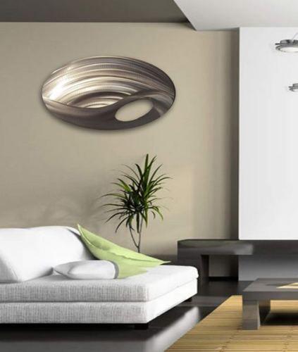 Modern abstract metal wall art painting sculpture home decor ...