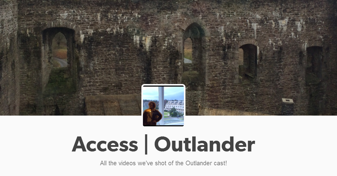 Access Hollywood has made a great collection of all their Outlander videos