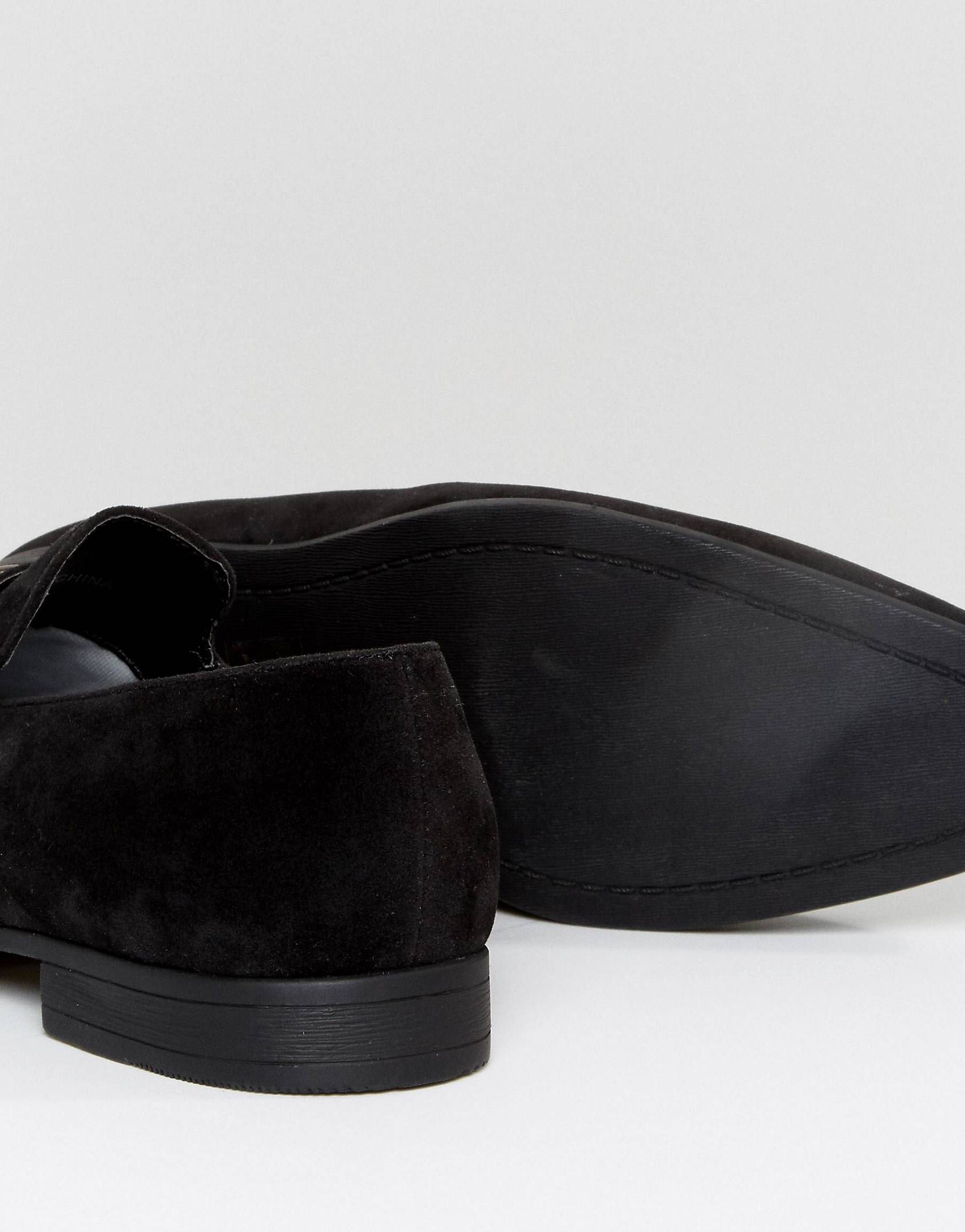 be9dddcbfd DESIGN loafers in black faux suede with snaffle detail | prom 2018 ...