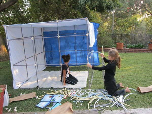 Fort Magic a fun backyard building kit for kids & a modular fort system you could totally make for yourself at camp ...