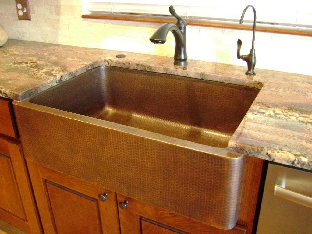 Kitchen Sink Design Ideas Part - 37: Kitchen , The Most Outstanding Farmhouse Kitchen Sink Ideas : Farmhouse Kitchen  Sink With Wide And Deep Idea For Perfect Cleaning Process