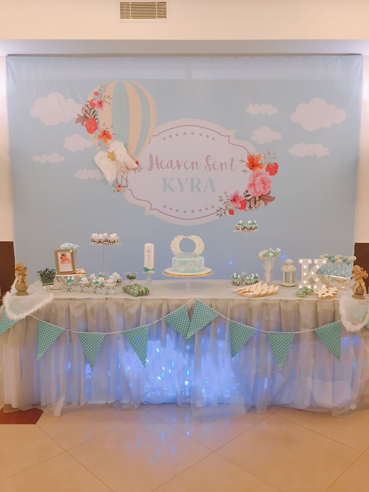 Heaven Sent Angel Backdrop And Dessert Table Heaven