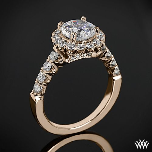 Rose Gold Ritani Masterwork Shared-Prong Diamond Engagement Ring from the Ritani Masterwork Collection.