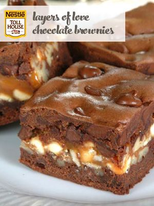 Layers Of Love Chocolate Brownies